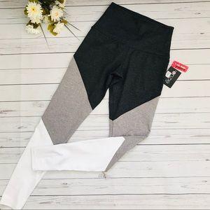 Grey Colorblock Onzie High Rise Track Legging
